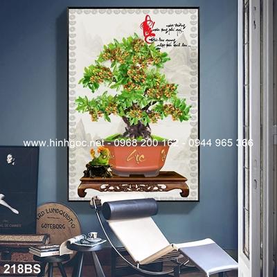 Tranh 3D cây bonsai- 218BS