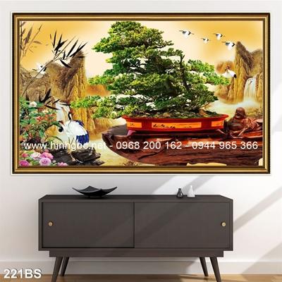 Tranh 3D cây bonsai- 221BS