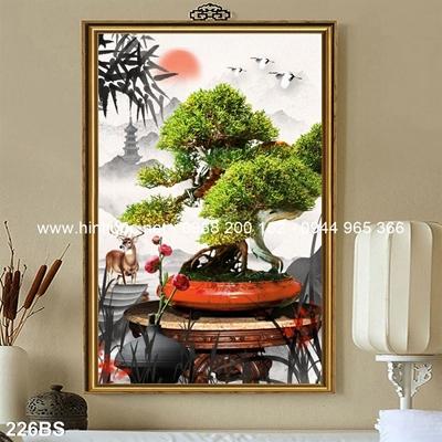 Tranh 3D cây bonsai- 226BS