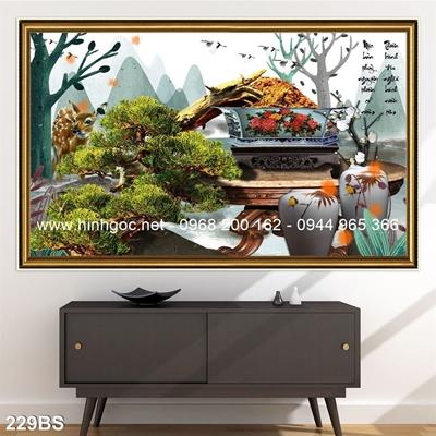 Tranh 3D cây bonsai- 229BS