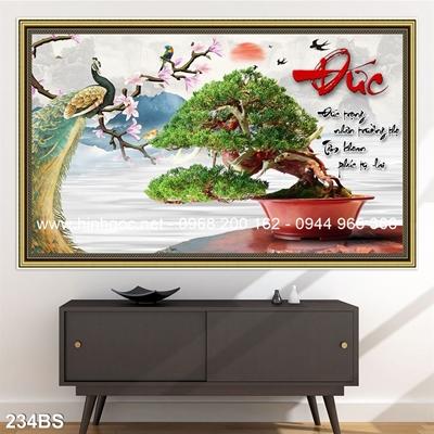 Tranh 3D cây bonsai- 234BS
