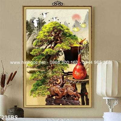 Tranh 3D cây bonsai- 236BS