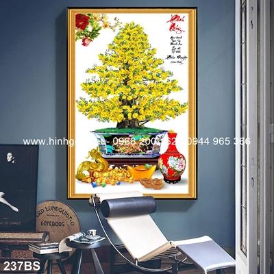 Tranh 3D cây bonsai- 237BS