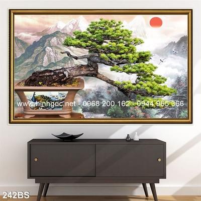 Tranh 3D cây bonsai- 242BS