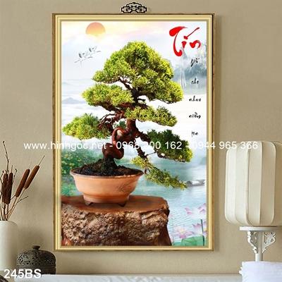 Tranh 3D cây bonsai- 245BS