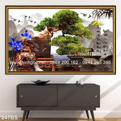 Tranh 3D cây bonsai- 247BS