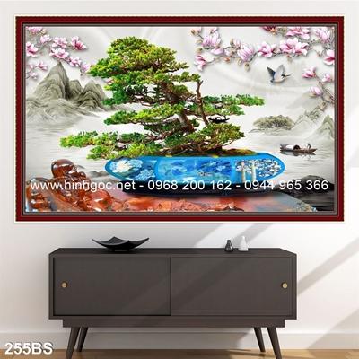 Tranh 3D cây bonsai- 255BS
