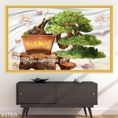 Tranh 3D cây bonsai- 257BS