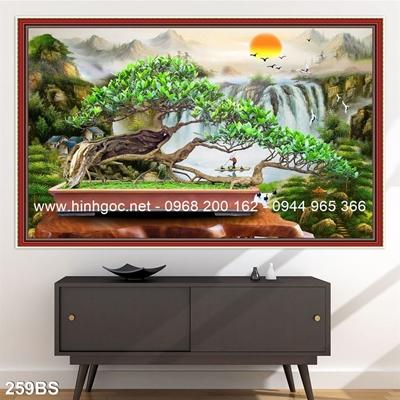 Tranh 3D cây bonsai- 259BS