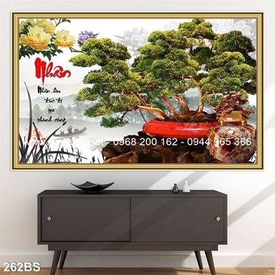 Tranh 3D cây bonsai- 262BS