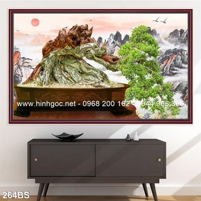 Tranh 3D cây bonsai- 264BS
