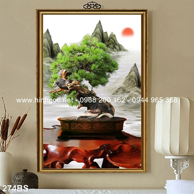 Tranh 3D cây bonsai- 274BS