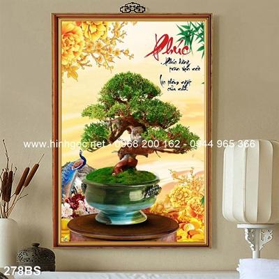 Tranh 3D cây bonsai- 278BS