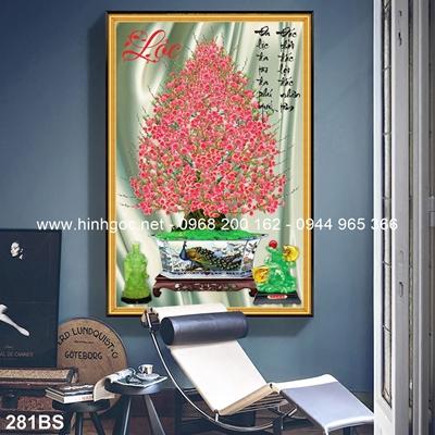 Tranh 3D cây bonsai- 281BS