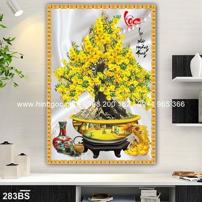 Tranh 3D cây bonsai- 283BS