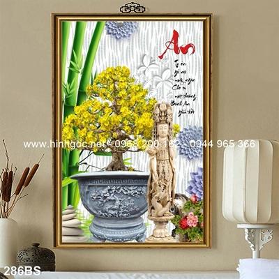 Tranh 3D cây bonsai- 286BS