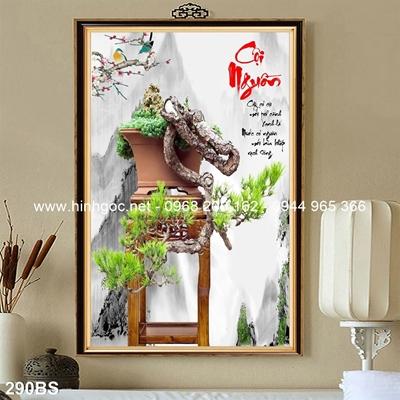 Tranh 3D cây bonsai- 290BS