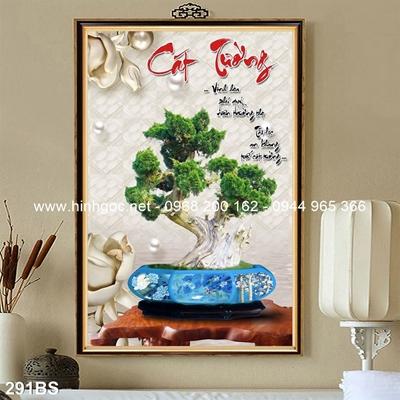 Tranh 3D cây bonsai- 291BS