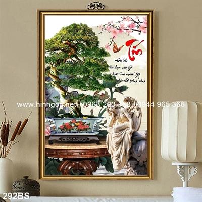 Tranh 3D cây bonsai- 292BS