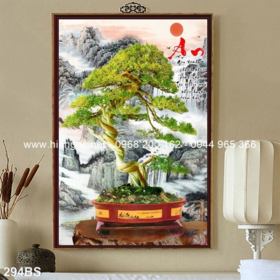 Tranh 3D cây bonsai- 294BS