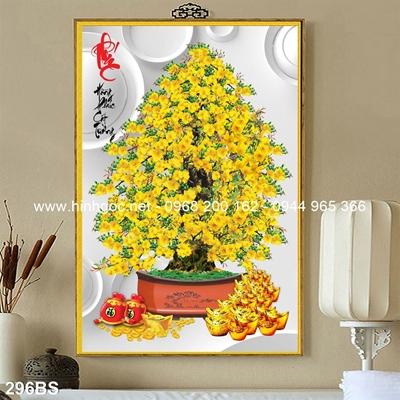 Tranh 3D cây bonsai- 296BS