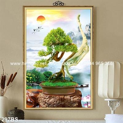 Tranh 3D cây bonsai- 297BS