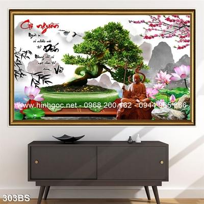 Tranh 3D cây bonsai- 303BS