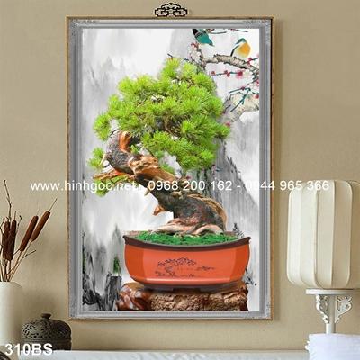 Tranh 3D cây bonsai- 310BS