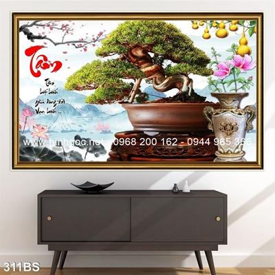 Tranh 3D cây bonsai- 311BS
