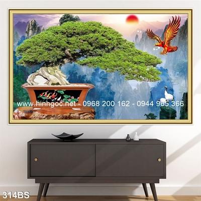Tranh 3D cây bonsai- 314BS