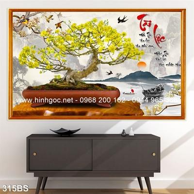 Tranh 3D cây bonsai- 315BS