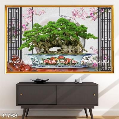 Tranh 3D cây bonsai- 317BS