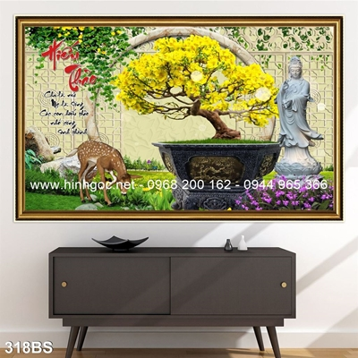 Tranh 3D cây bonsai- 318BS