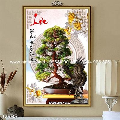 Tranh 3D cây bonsai- 326BS