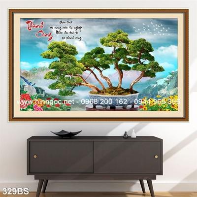 Tranh 3D cây bonsai- 329BS