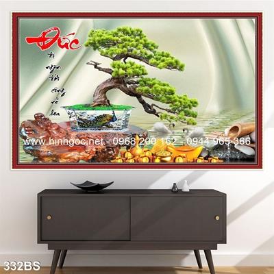 Tranh 3D cây bonsai- 332BS