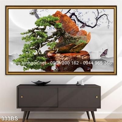 Tranh 3D cây bonsai- 333BS