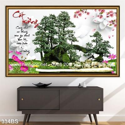 Tranh 3D cây bonsai- 334BS