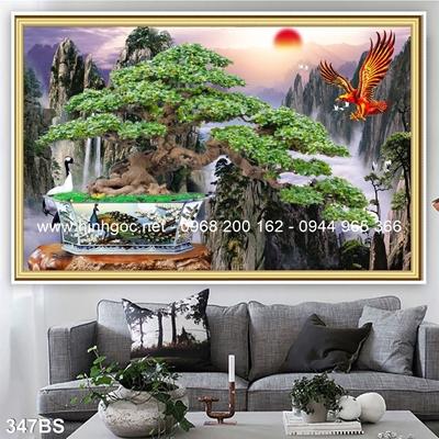 Tranh 3D cây bonsai- 347BS