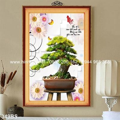 Tranh 3D cây bonsai- 349BS
