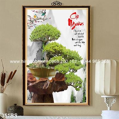 Tranh 3D cây bonsai- 351BS