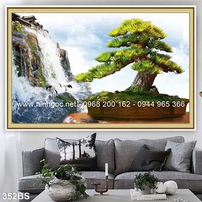 Tranh 3D cây bonsai- 352BS