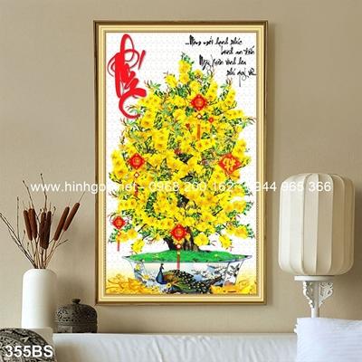 Tranh 3D cây bonsai- 355BS