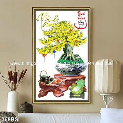 Tranh 3D cây bonsai- 368BS