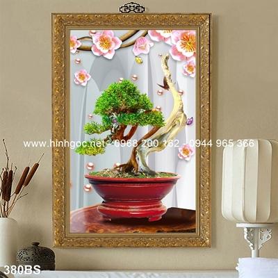 Tranh 3D cây bonsai- 380BS