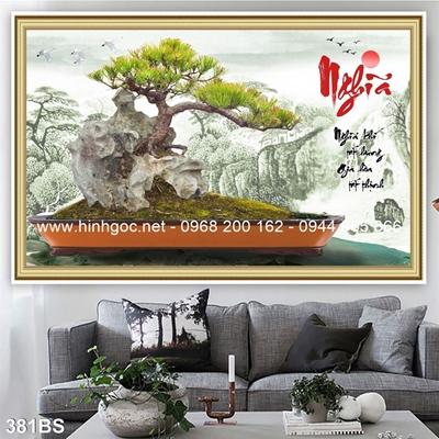 Tranh 3D cây bonsai- 381BS