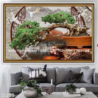 Tranh 3D cây bonsai- 382BS