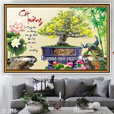 Tranh 3D cây bonsai- 383BS