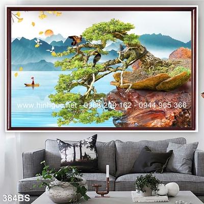 Tranh 3D cây bonsai- 384BS