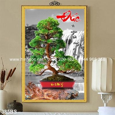 Tranh 3D cây bonsai- 385BS